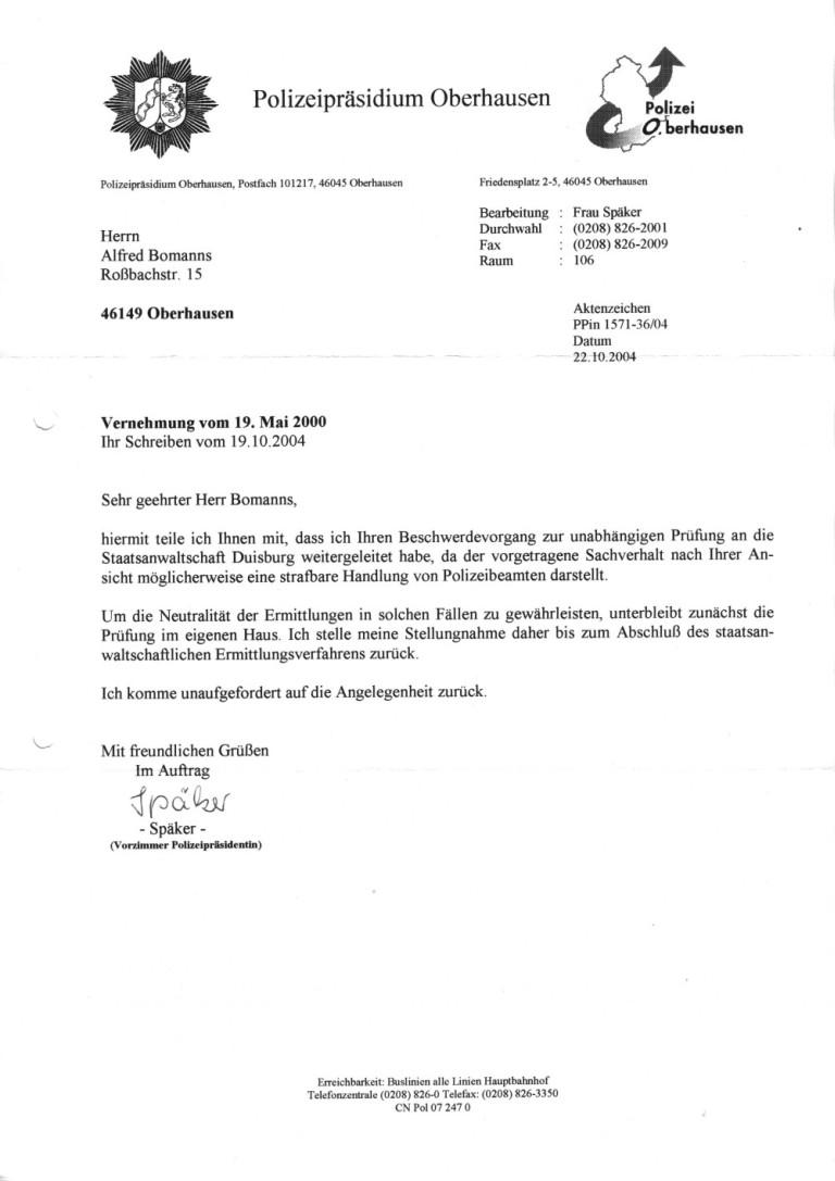 briefvorlage der heide flachskampf hagemann - Stellungnahme Schreiben Beispiel